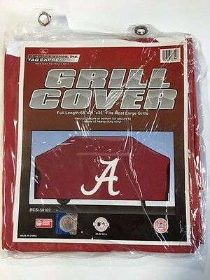Alabama Crimson Tide Economy Team Logo BBQ Gas Propane Grill Cover - NEW