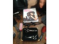 Hairdressing kit with trolley bag ideal for level 2