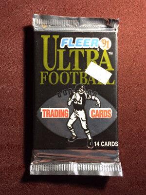 1991 Fleer Ultra Football Factory Sealed Pack - Unopened / - 1991 Fleer Ultra Football