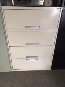 Filing Cabinets 4 Drawer Lateral Beige/Black & Storage Cabinets