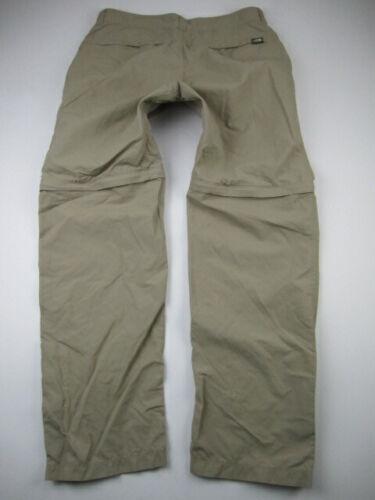 Mens 32x30 The North Face Regular nylon beige pants shorts zip off convertible