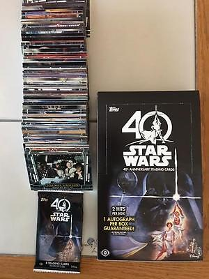 2017 Topps Star Wars 40th Anniversary Complete 200 CARD SET  Empty Box-Wrapper