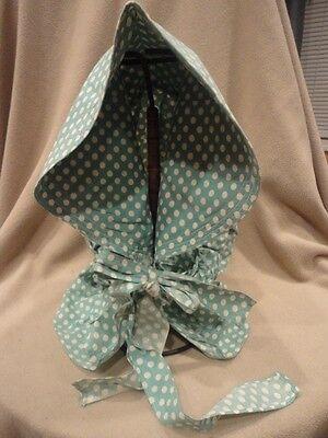 Bonnet Hat Doka Dot Green
