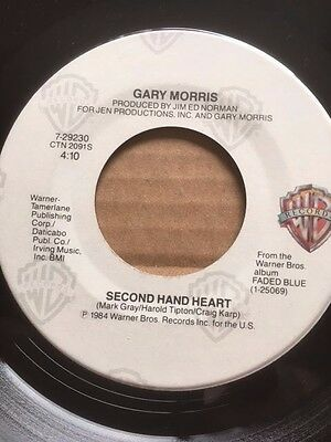 "GARY MORRIS 7"" - SECOND HAND HEART / WHOEVER'S WATCHING - WARNER BROS 7-29230"