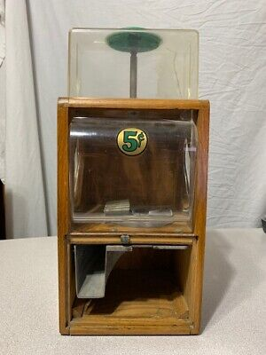 Victor Vending Five Cent Baby Grand Extended Top Gumball Machine