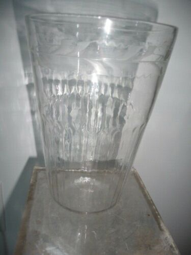 Early American Blown Stiegel FLIP GLASS vase 17- early 1800s Pontil Rummer NICE!