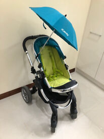 iCandy pram and carrycot complete set up in Sweetpea