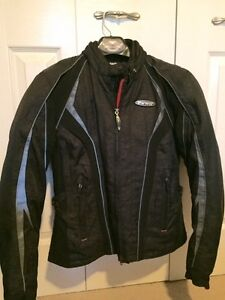Motorcycle Jacket, cowl and helmet - Womens size S/M