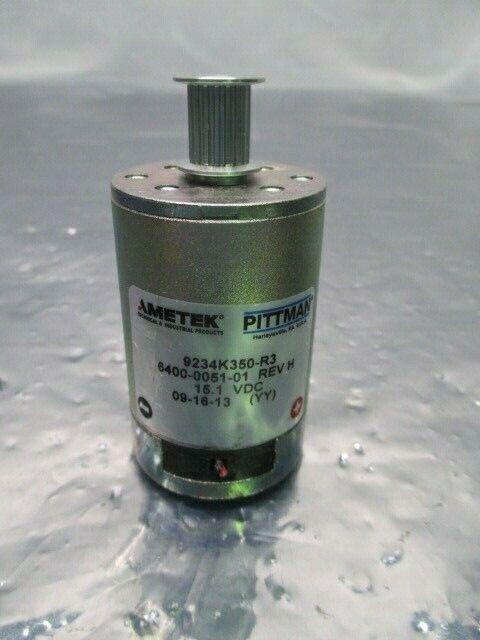 Pittman 9234K350-R3 Servo Motor, Asyst 6400-0051-01, 15.1VDC, Ametek, 100476