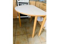 Habitat folding kitchen table and four chairs