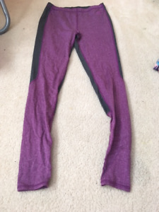 girls grey and purple roots leggings size 11/12