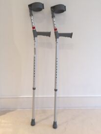 Pair of adjustable adult crutches – £10