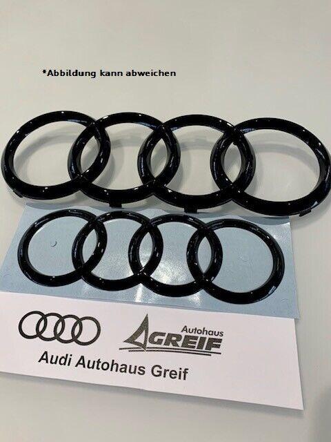 A4,A6,A7,A8 Q3,Q5,Q7 Original Audi Vorne Vier Ringe Schwarz Abzeichen