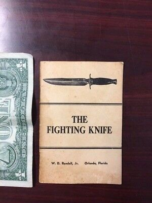 VINTAGE 1952 RANDALL MADE KNIVES THE FIGHTING KNIFE MANUAL 36 PAGES
