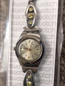 Women's Swatch Watch with Swarovski Crystals