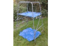 tp climbing frame complete with slide, monkey run, scramble net and T-bars