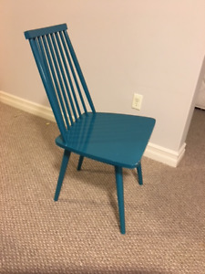 Funky Teal Kitchen Chairs