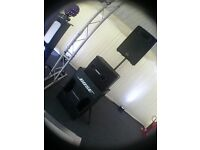 PA SYSTEM Bose 802's, Bose 302's and Gemini 2000W Amp