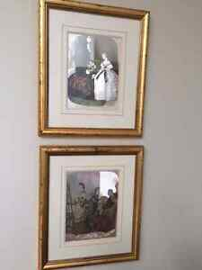 2 Victorian foil pictures London Ontario image 1