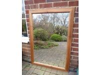 Large Rustic Pine Mirror