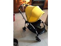 Bugaboo Bee Plus Pushchair with Yellow Hood, Rain Cover & Maxi Cosi Car Seat Adaptors