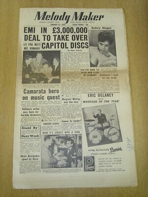 MELODY MAKER 1955 JANUARY 22 EMI CAPITOL DISCS TAKEOVER DJANGO HMV RINGSIDE CLUB