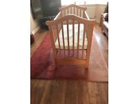 Antique pine cot