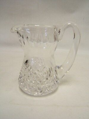 """Vintage Lead Crystal Small Pitcher Brilliant Cut 4-1/2"""" tall  Free ship VGC"""