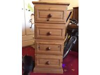 Set of 4 wooden drawers