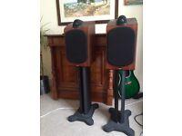 B&W 705 Speakers + Original B&W Speaker Stands