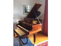 C Bechstein Model A1 piano, refurbished by Harrods, with coordinating duet stool