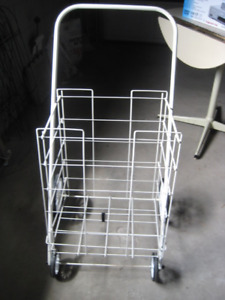 Folding shopping cart/push trolley