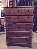 5 Drawer Tall Dresser, GREAT condition for sale