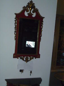 Miroir et tablette murale
