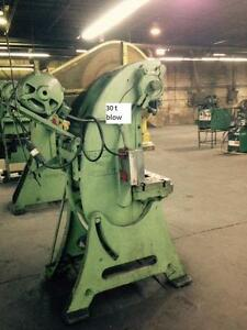 "30 ton Blow OBI punch press, stroke 2-1/2"", SH 7-1/2"".bed area 22 x 13"",spm 100, electrics 550/3/60"