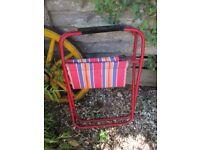 Folding vintage traditional beach garden chair