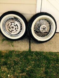 Road King or Touring Harley Davidson Spoke Wheels and Tires