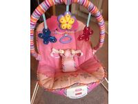 'Calming Vibrations' Baby Bouncer £30