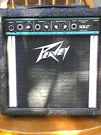 Busking Amp,Peavey Solo,batteries or mains ,1 channel for microphone other for instrument