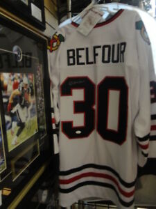Ed Belfour Autographed Blackhawks Jersey JSA at Slapshot