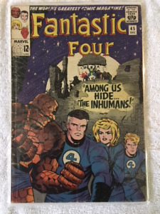 THE FANTASTIC FOUR #45 comic book - 1st appear. of THE INHUMANS!