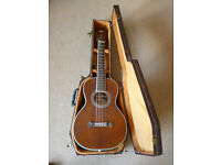 """Washburn Acoustic Parlour Guitar R319SWKK Anniversary Model. Solid Woods Throughout + """"Coffin"""" Case."""