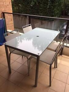 Outdoor table with 4 chairs Naremburn Willoughby Area Preview