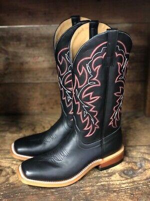 HorsePower Men's Black Magic Square Toe Western Boots HP1835 (Magic Boots)