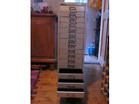 Bisley 15 drawer storage cabinet for sale.