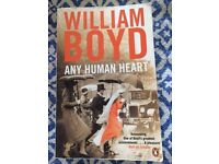 Any Human Heart - William Boyd (light general use with birthday greeting inside)