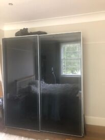 Ikea sliding glass wardrobe