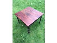 Laura Ashley Rosewood and Wrought Iron coffee table