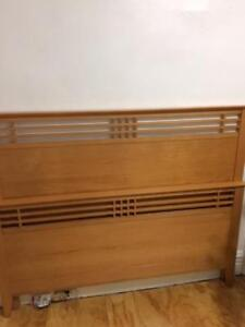 Pine Queen Size Bed Frame + 2x bedside tables - 500$ OBO