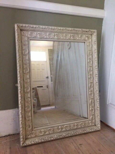 Distressed Shabby Chic Cream Mirror In Chapel Allerton West